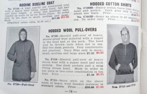 First hoodie: 1930
